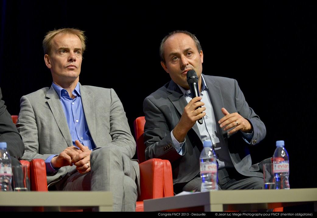 <strong>Philippe Baud (Président de la Commission de branche de la moyenne exploitation) et Yves Sutter (Président de la Commission de branche de la grande exploitation)</strong><br/>
