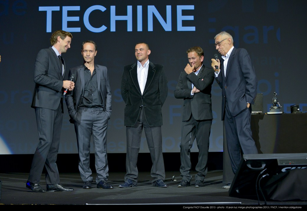 <strong>Alexis Loret, Manuel Blanc, Stéphane Rideau, Gaël Morel et André Téchiné</strong><br/>