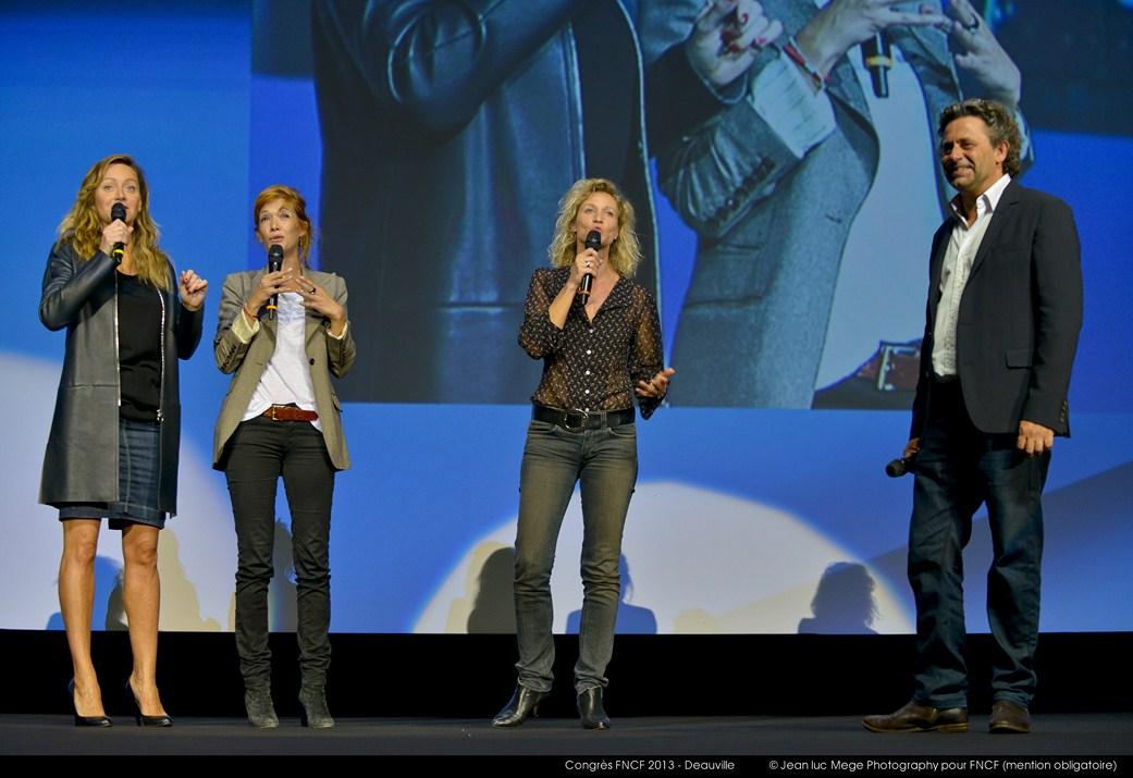 <strong>Julie Ferrier, Mélanie Doutey, Alexandra Lamy et Philippe Kaempf</strong>