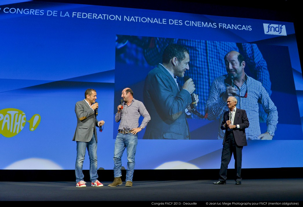 <strong>Dany Boon, Kad Merad et Jérôme Seydoux</strong><br/>